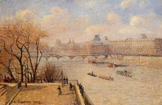 The Raised Terrace of the Pont Neuf, 1902 - Camille Pissarro - WikiArt.org