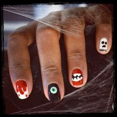 Happy Early #Halloween! I couldn't decide on which spooky look to try, so I just did them all. #Halloweennailart #halloweennails #Sephora