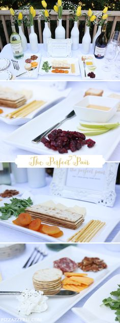 Bridal Shower - Wine + Cheese Pairing for The Perfect Pair via the fabulous @Courtney Baker Whitmore {Pizzazzerie.com}