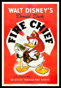 DONALD DUCK - FIRE CHIEF 1940  DISNEY