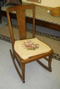 vintage armless rocker rocking chair more antique rockers armless ...