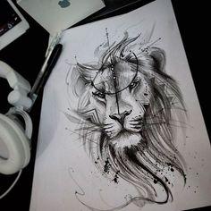 58 Super Ideas For Tattoo Lion Watercolor Tatoo Leo Tattoos, Future Tattoos, Animal Tattoos, Body Art Tattoos, Tattos, Trendy Tattoos, Small Tattoos, Tattoos For Guys, Arm Tattoo