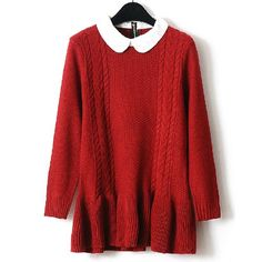 Fancy - [grxjy560659]Preppy Warm Sweet Adorable Vintage Contrast Color Weave Pattern Sweater