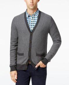 TOMMY HILFIGER Tommy Hilfiger Men'S Tobin Cardigan. #tommyhilfiger #cloth # sweaters