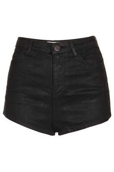 MOTO Coated Denim Shorts. Would be SO cute paired with tights for the fall.