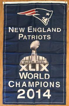 NFL New England Patriots 2014 Super Bowl Champions 3x5 Flag Football Banner #NewEnglandPatriots