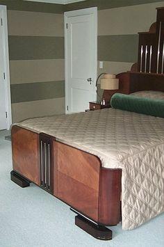 Art Deco bed footboard