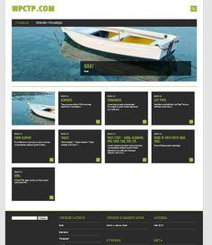 WordPress Theme Wordpress Theme, Boat, Dinghy, Boats