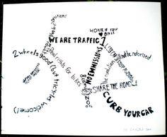 Bicycling slogan poster