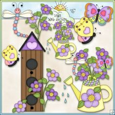 Bugs and Blooms 2 - NE Angie Wenke Clip Art