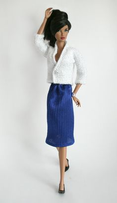 Sweater & Skirt for Barbie by ChicBarbieDesigns on Etsy, $19.99