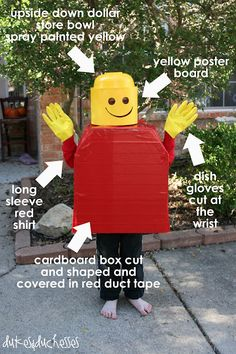 Lego Person tutorial - Lego Costume