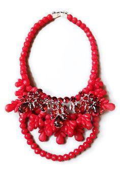 Shop Red Viviana Necklace by Ek Thongprasert X Natasha Goldenberg for Preorder on Moda Operandi