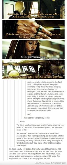 Explanation of Captain Jack Sparrow's past. I adore Johnny Depp and his character Captain Jack Sparrow. Captain Jack Sparrow, Will Turner, Geeks, Johny Depp, Vanellope, Pirate Life, Dc Movies, Pirates Of The Caribbean, Disney And Dreamworks