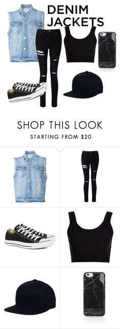 """Untitled #48"" by tenuunl on Polyvore featuring Frame Denim, Miss Selfridge, Converse, Calvin Klein Collection, denimjackets and WardrobeStaples"