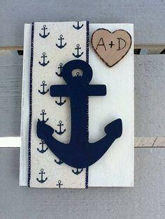 Nautical Anchor Guest Book/Wedding guest by NauticalWeddings