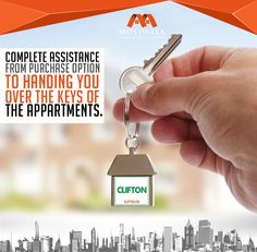 COMPLETE ASSISTANCE FROM PURCHASE OPTION TO HANDING YOU OVER THE KEYS OF THE APARTMENTS. Contact:- Phone: +92-21-35377011-4 Mobile: +92-3002019446 E-mail: contact@motiwalaestate.com