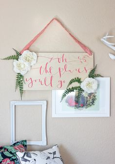 DIY: baby shower sign   All mommies must visit www. upscale-mom.com for multi tasking magic!