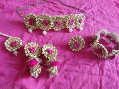 Tassel Jewelry, Textile Jewelry, Fabric Jewelry, Flower Jewellery For Haldi, Flower Jewelry, Handmade Accessories, Handcrafted Jewelry, Gota Patti Jewellery, Thread Bangles