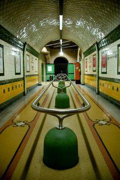 Art Nouveau Metro Station in Genova, Italy