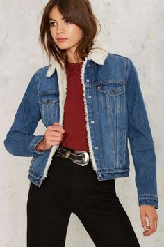Levi's Authentic Sherpa Trucker Denim Jacket | Shop Clothes at Nasty Gal!