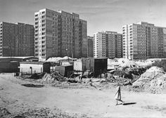 Rozbudowa osiedla na Jelonkach (Jelonki Południowe – MSI) Rok: 1975, fot. Sokołowski