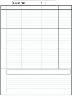 Lesson plan printable & editable