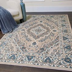 Update any room with the Oxford Caspian rug collection by Home Dynamix. Highly designed with an intricate medallion motif, this rug will enhance your décor. Made of polypropylene fibers with jute backing that offers comfort and style into any room. Transitional Area Rugs, Home Decor Styles, Interior, Home Dynamix, Transitional Decor, Area Rug Sizes, Rugs, Bed Bath And Beyond, Comfy Decor
