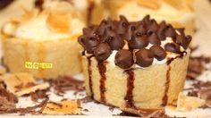 طريقة عمل ميني تارت بحشوة التشيز كيك - Cheesecake mini-tart recipe