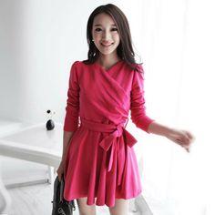 2013 Autumn Fashion Plus Size V Neck Dress