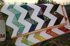A Little Bit Biased: A Happy Zig Zag Quilt