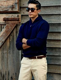 blue + white -- menswear Spring style