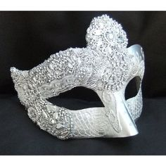 Silver Masquerade Masks Bing ❤ liked on Polyvore featuring masks