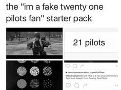 "The ""I just joined the clique last week, heard stressed out on the radio and fell in love!"" starter pack. Can we stop this fake fan shit?? Right fucking now????"