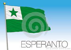 Esperanto flag, Movement for the language of Esperanto, vector file, illustration