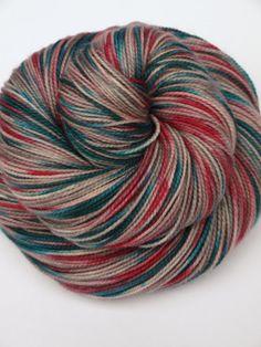 100% Superwash Merino, Hand Dyed Fingering/Sock Yarn, Pink Elephants