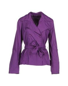 313 tre uno tre Purple nylon double-breasted trench jacket