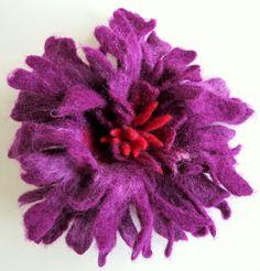 Felt  Purple Amaranth Lavender  Unique Felted Flower by FeltZone