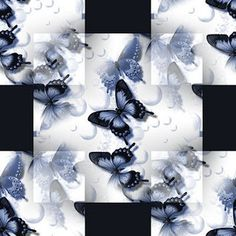 blue butterfly background