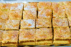 There must be hundreds of German apple cake recipes! Learn today to make the special German Apple Cream Slices or Apfelschnitten. German Desserts, No Cook Desserts, Apple Cake Recipes, Apple Desserts, Austrian Recipes, German Recipes, Deutsche Desserts, Slow Cooker Recipes, Cooking Recipes