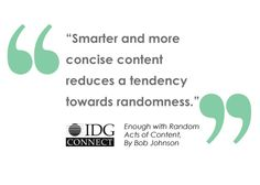 Enough With Random Acts of Content
