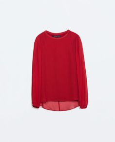 Image 6 of LONG-SLEEVED TOP from Zara
