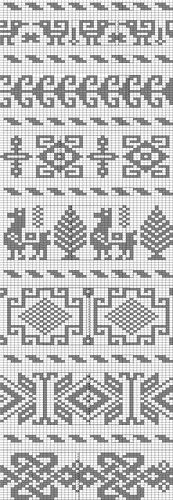 My collection of knitting chart patterns, jacquard style of knitting for children Fair Isle Knitting Patterns, Fair Isle Pattern, Knitting Charts, Loom Patterns, Loom Knitting, Knitting Stitches, Cross Stitch Patterns, Free Knitting, Knitting Machine