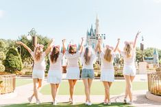 We spoke with Sara Mahjoub, a travel agent who specializes in Disney destinations, to learn how to plan an epic bachelorette party at Disney World. Disney Bachelorette Parties, Bachlorette Party, Bachelorette Weekend, Destination Bachelorette Party, Princess Wedding Dresses, Best Wedding Dresses, Princess Party, Princess Crowns, Disney Princess