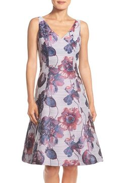 Adrianna Papell Adrianna Papell Floral Print Fit & Flare Dress (Regular & Petite) available at #Nordstrom