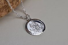 Your place to buy and sell all things handmade St Christopher Necklace, St Christopher Medal, Saint Christopher, Patron Saints, Handmade Items, Handmade Gifts, Cross Pendant, Pendants, Pendant Necklace