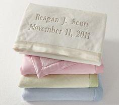 I love the Silk Trim Blanket on potterybarnkids.com