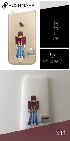 """Reading"" case Flexible clear silicone case with printed image on back.  Comes in cellophane bag and foam backing.  Price firm unless bundled.  Coming with other cases similarly priced 2 for $16 - just ask for personalized bundle! NWOT retail item. Accessories Phone Cases"