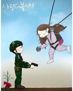 Crash landing on you fanart Hyun Bin, Korean Drama Romance, Korean Drama Movies, Cute Couple Cartoon, Cute Couple Art, Kdrama, Korean Art, Cute Korean, Chibi