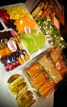 Crave Sandwich Catering with Cookies, Fruits, Salads and pickles!
